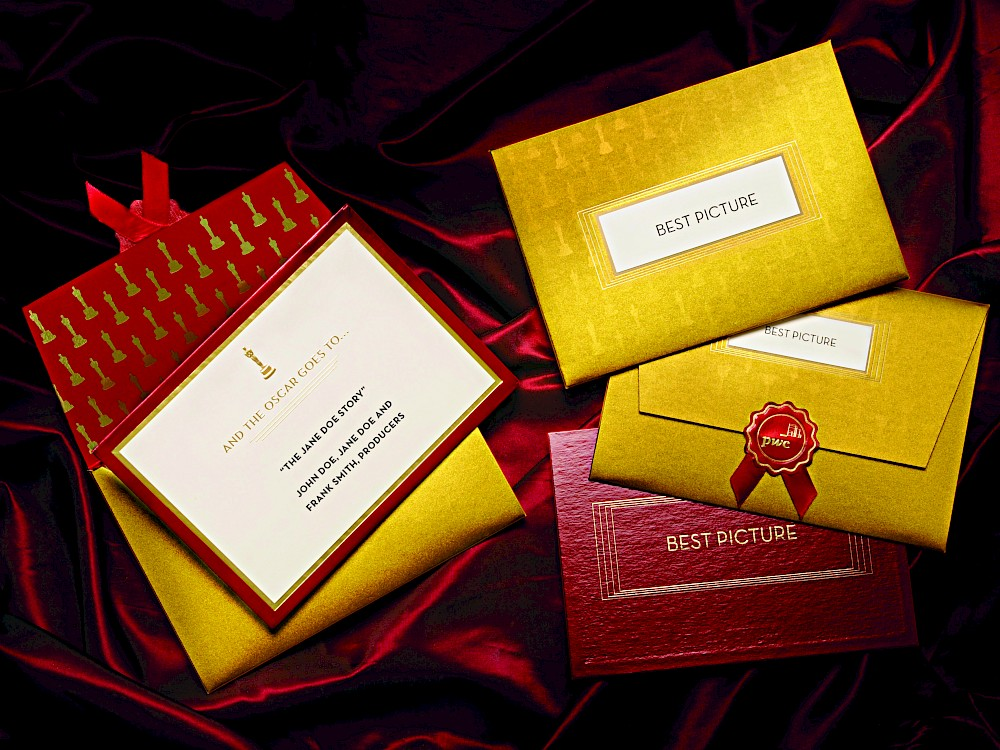 Legendary Hand Crafted Oscar Winner S Card Envelope And Seal
